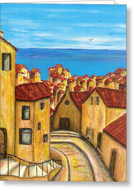 Pam Franz Greeting Cards - Biagi in Tuscany Greeting Card by Pamela Allegretto