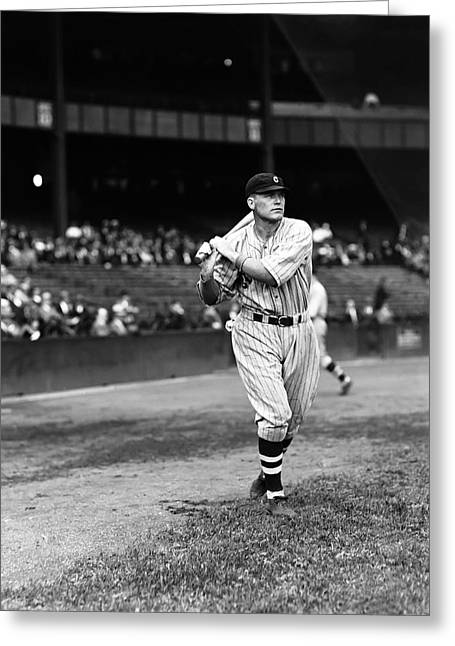 Cleveland Indians Greeting Cards - Bibb A. Falk Greeting Card by Retro Images Archive