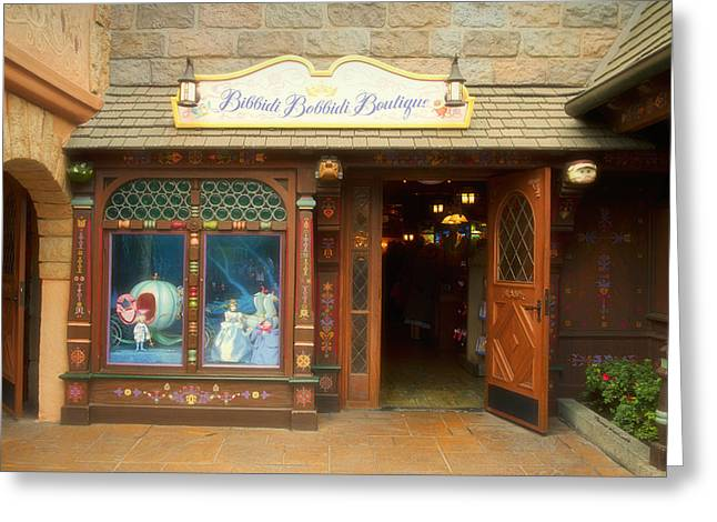 Mad Hatter Photographs Greeting Cards - Bibbidi Bobbidi Boutique Fantasyland Disneyland Greeting Card by Thomas Woolworth