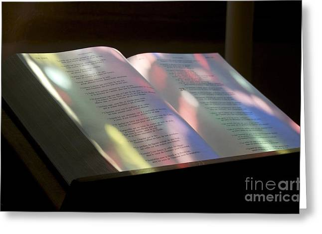 Spirituality Photographs Greeting Cards - Bible Greeting Card by Bernard Jaubert