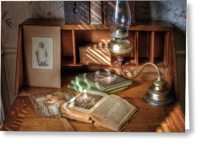 Oil Lamp Greeting Cards - Bible Study Greeting Card by David and Carol Kelly