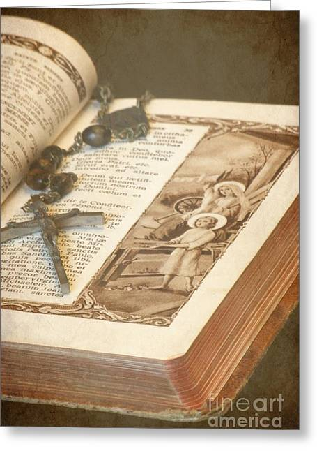 Rosary Greeting Cards - Biblical Greeting Card by Sophie Vigneault