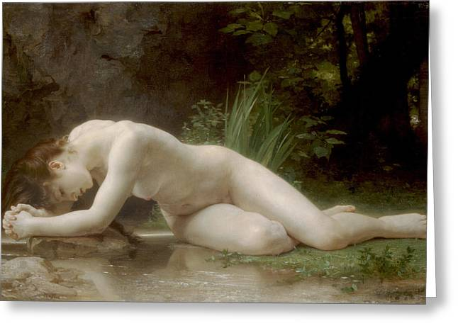 Biblis Greeting Card by William Bouguereau