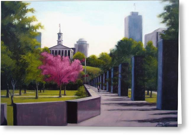 Janet King Paintings Greeting Cards - Bicentennial Capital Mall Park Greeting Card by Janet King
