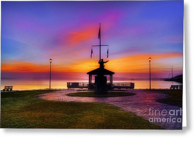 Bicentennial Park In Swansboro Greeting Card by Benanne Stiens