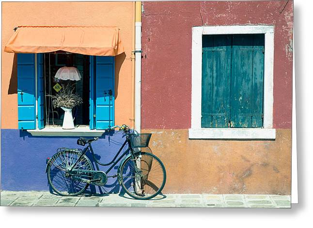 Venecia Greeting Cards - Bicycle  Greeting Card by A Rey