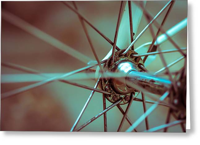 Mechanism Greeting Cards - Bicycle Abstract Greeting Card by GP Images