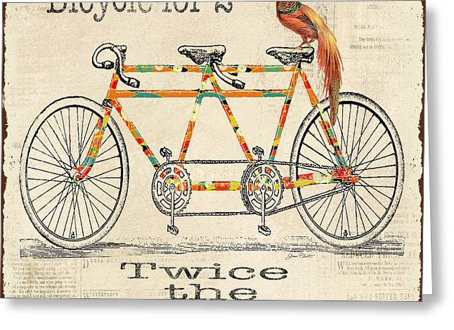 Sea Shell Digital Art Greeting Cards - Bicycle for 2 Greeting Card by Jean Plout
