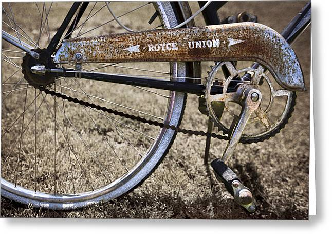 Shoppe Greeting Cards - Bicycle Gears Greeting Card by Debra and Dave Vanderlaan