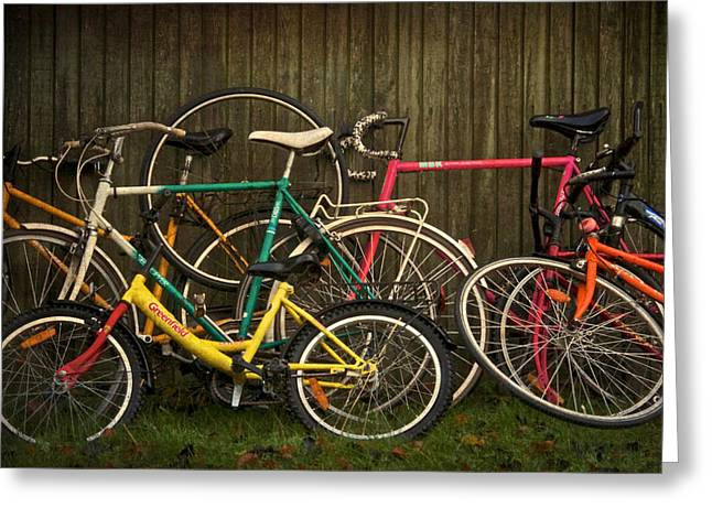 Spokes Greeting Cards - Bicycle Jam Greeting Card by Odd Jeppesen