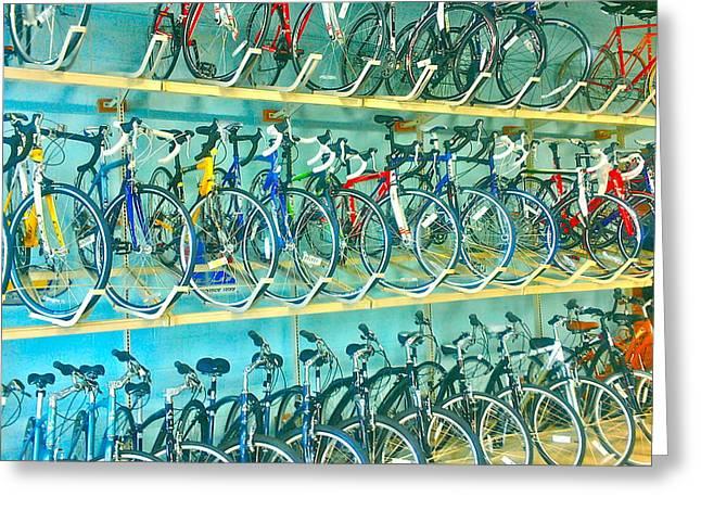 Leslizabeth Greeting Cards - Bicycle. Greeting Card by Leslizabeth O