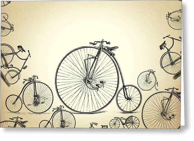 Digital Design Greeting Cards - Bicycle Greeting Card by Mark Ashkenazi