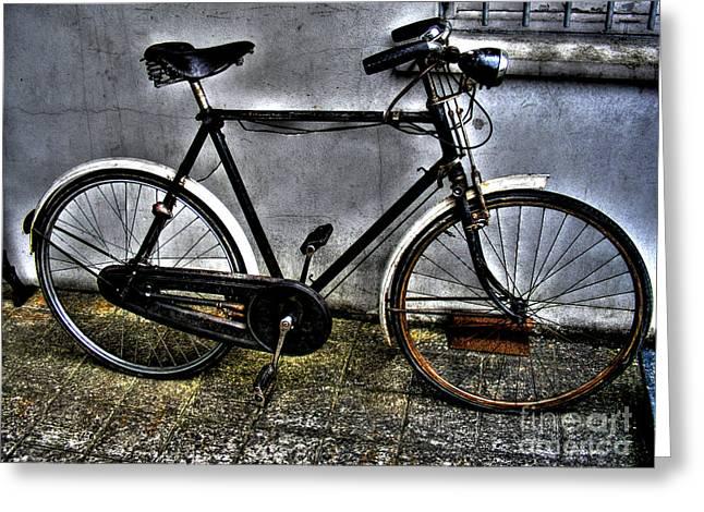 Impel Greeting Cards - Bicycle Greeting Card by Nina Ficur Feenan