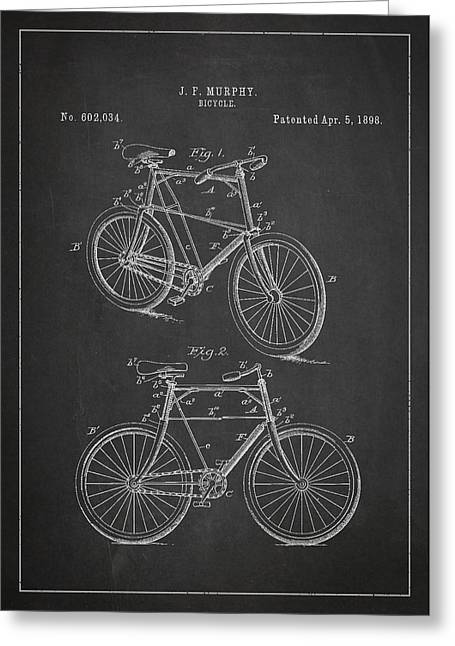 Pedal Greeting Cards - Bicycle Patent Greeting Card by Aged Pixel