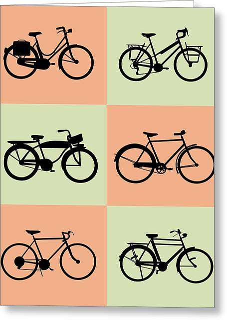 Humor Greeting Cards - Bicycle Poster Greeting Card by Naxart Studio
