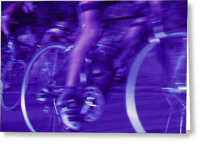 Tungsten Greeting Cards - Bicycle Race Greeting Card by Panoramic Images