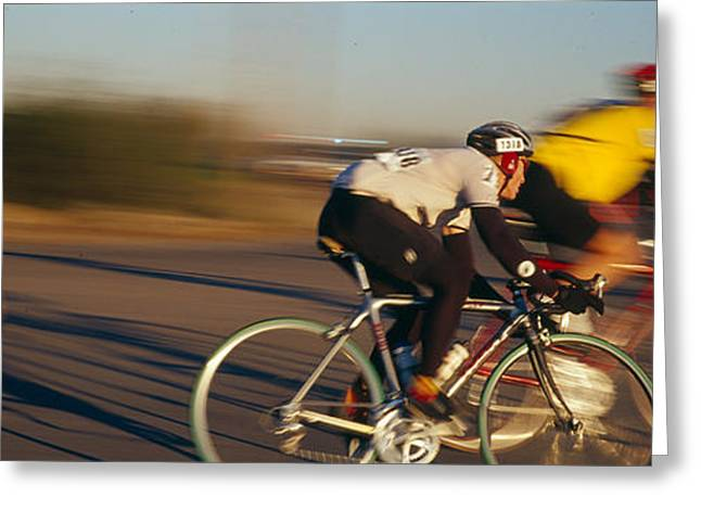 Three Speed Greeting Cards - Bicycle Race, Tucson, Pima County Greeting Card by Panoramic Images
