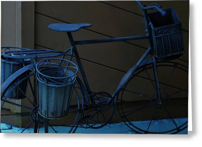 Morro Bay Ca Greeting Cards - Bicycle Sculpture on Display Greeting Card by Jan Moore