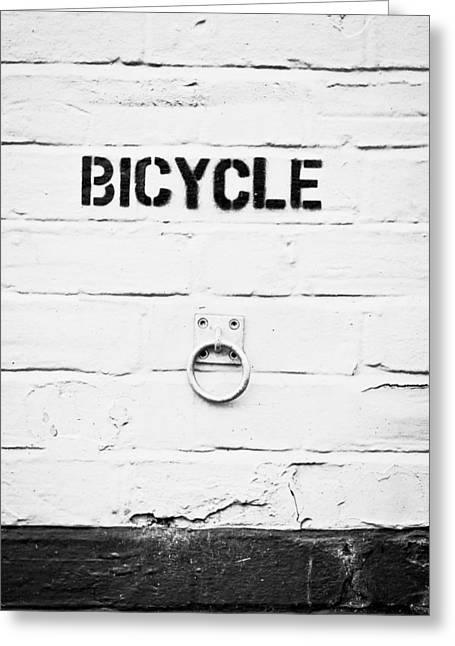 Repetition Greeting Cards - Bicycle Greeting Card by Tom Gowanlock
