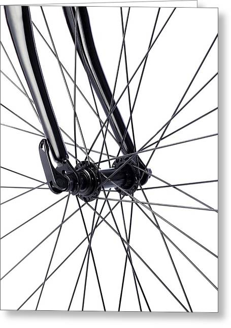 Bicycle Wheel Spokes Greeting Card by Science Photo Library