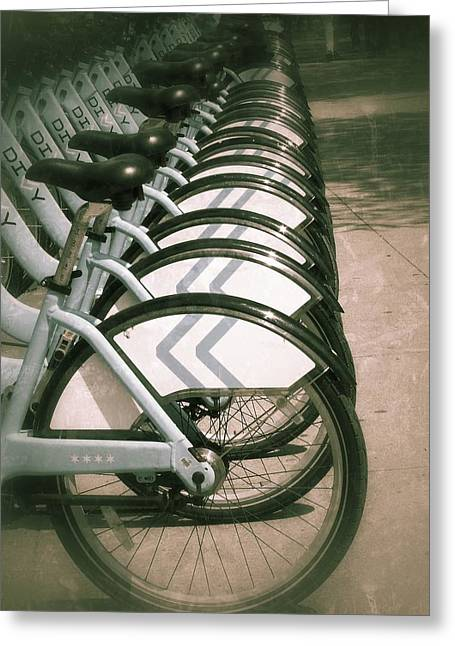 Diane Reed Greeting Cards - Bicycles Greeting Card by Diane Reed