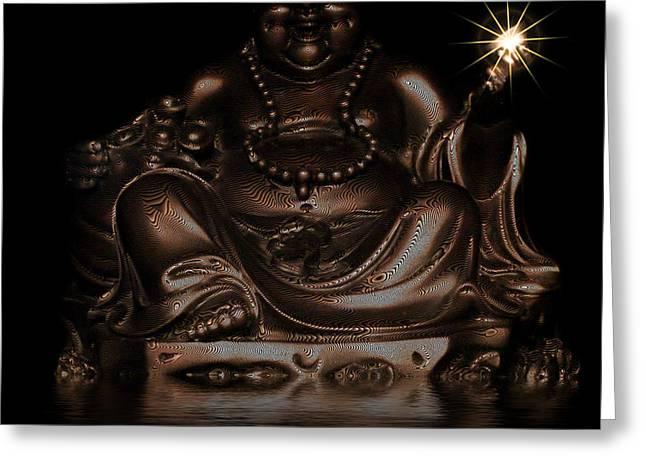 Buddha Photographs Greeting Cards - Bid Buddha Greeting Card by Ian Hufton