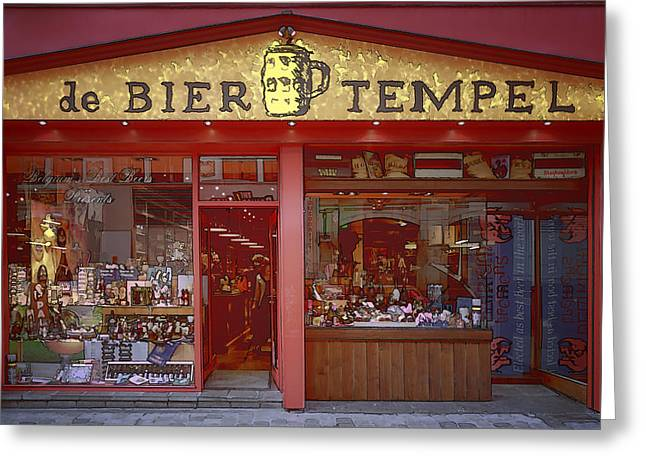 Fermentation Photographs Greeting Cards - Bier Tempel Greeting Card by Joan Carroll