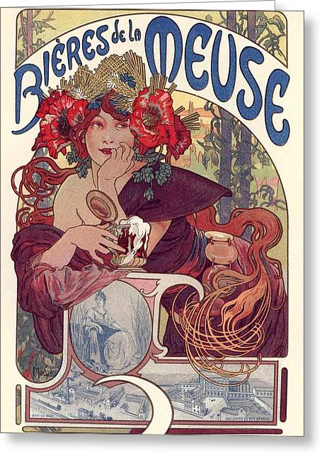 Belle Epoque Greeting Cards - Bieres de la Meuse Greeting Card by Gianfranco Weiss