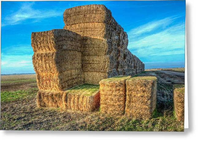 Bale Greeting Cards - Big Bales Greeting Card by Larry Pacey
