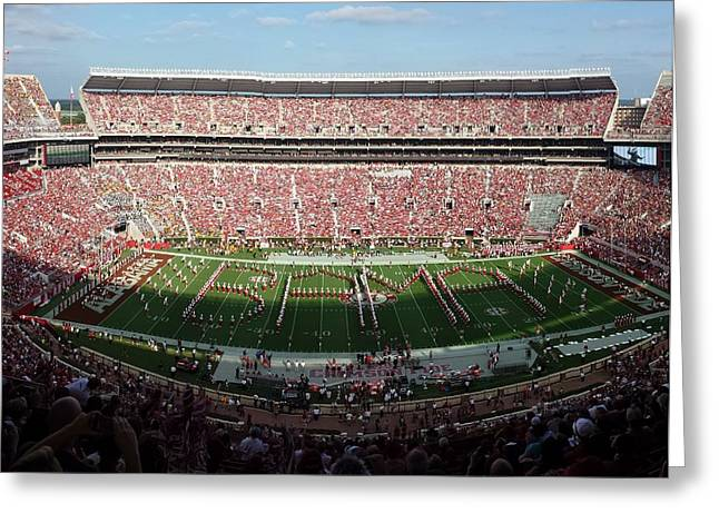 Bryant Denny Greeting Cards - Big Bama Spell Out Greeting Card by Kenny Glover