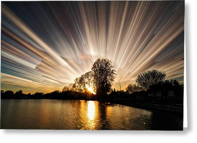 Big Bang Greeting Card by Matt Molloy