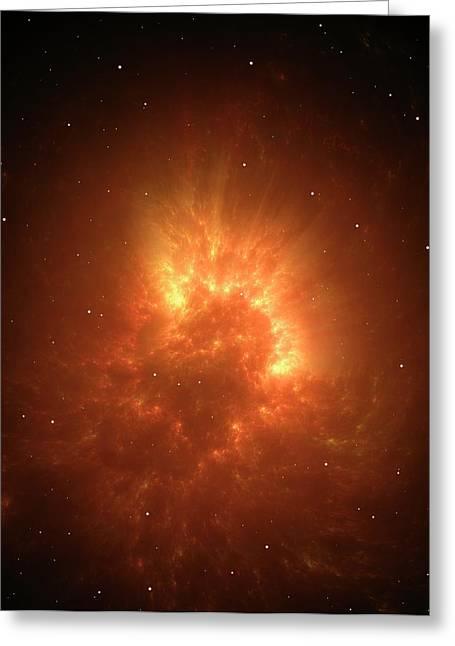 Big Bang Or Stellar Collapse Artwork Greeting Card by David Parker