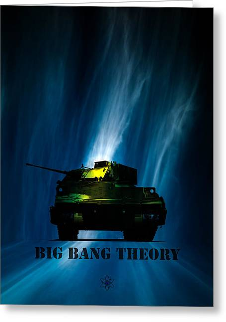 Army Tank Greeting Cards - Big Bang Theory Greeting Card by Bob Orsillo