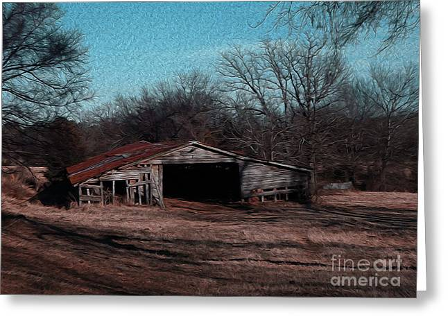 Shed Digital Art Greeting Cards - Big Barn Theory Greeting Card by R McLellan