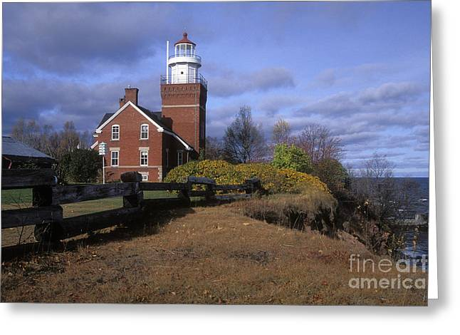 North American Inland Sea Greeting Cards - Big Bay Point Lighthouse - FS000622 Greeting Card by Daniel Dempster