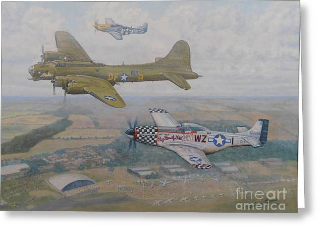 Fighters Greeting Cards - Big Beautiful Dolls Farewell  Greeting Card by Elaine Jones