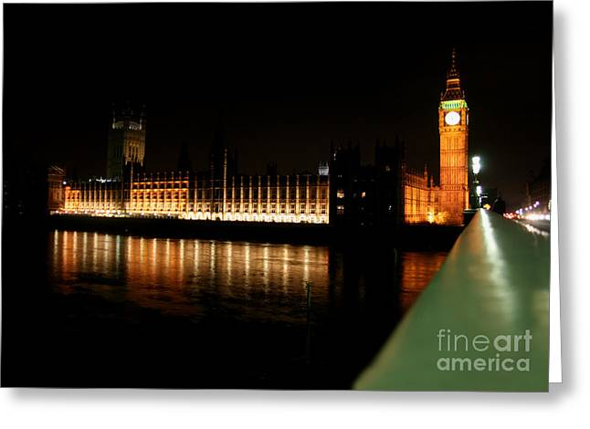 Owner Art Mixed Media Greeting Cards - Big Ben And The Houses Of Parliament Greeting Card by Michael Braham