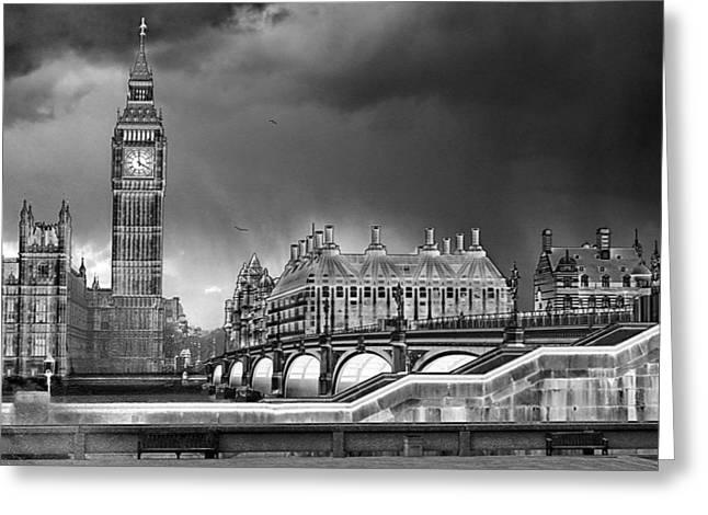 London Pyrography Greeting Cards - Big Ben Greeting Card by Darin Conway