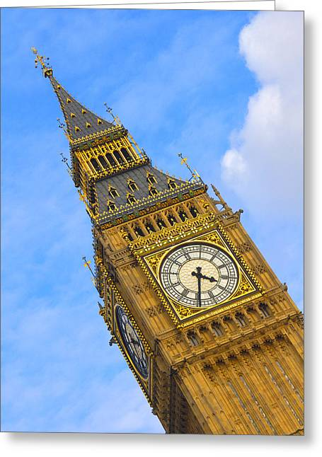 Timepieces Greeting Cards - Big Ben - England Greeting Card by Mike McGlothlen