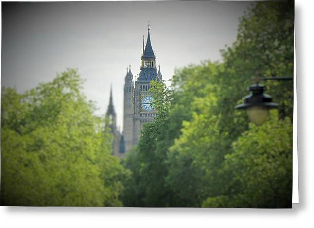 Walkway Pyrography Greeting Cards - The Tower Big Ben Greeting Card by Gary Smith
