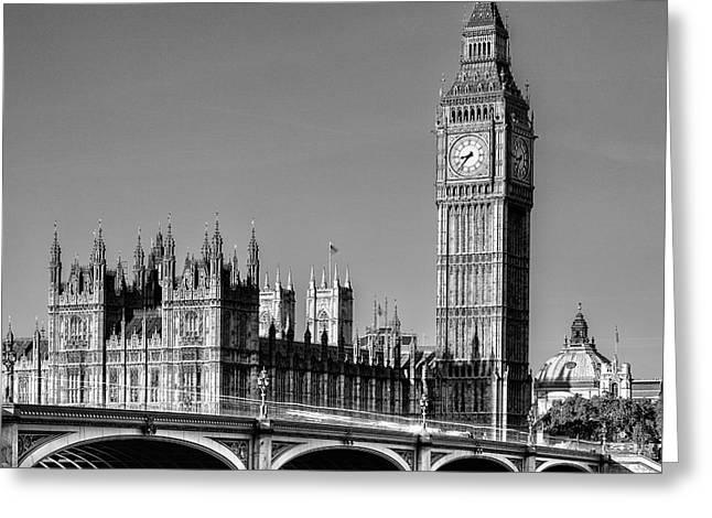 City Of London Greeting Cards - Big Ben Greeting Card by John Farnan