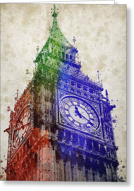 Big Mixed Media Greeting Cards - Big Ben London Greeting Card by Aged Pixel