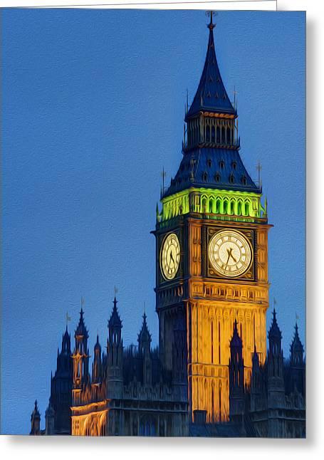 Big Ben London Digital Painting  Greeting Card by Matthew Gibson