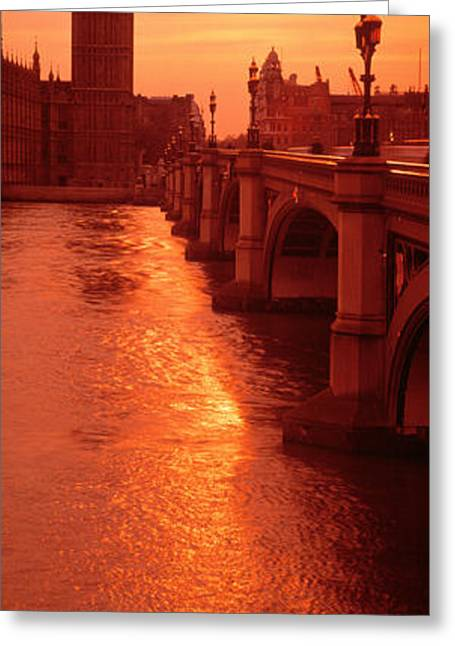 Historic England Greeting Cards - Big Ben London England Greeting Card by Panoramic Images