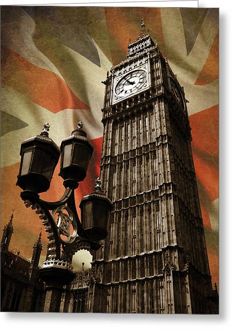 Clock Greeting Cards - Big Ben London Greeting Card by Mark Rogan