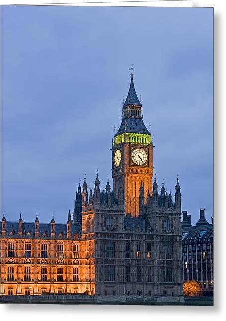 Royal Wedding Greeting Cards - Big Ben London Greeting Card by Matthew Gibson