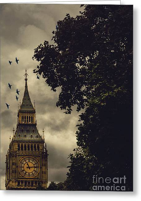 The Houses Greeting Cards - Big Ben Greeting Card by Margie Hurwich