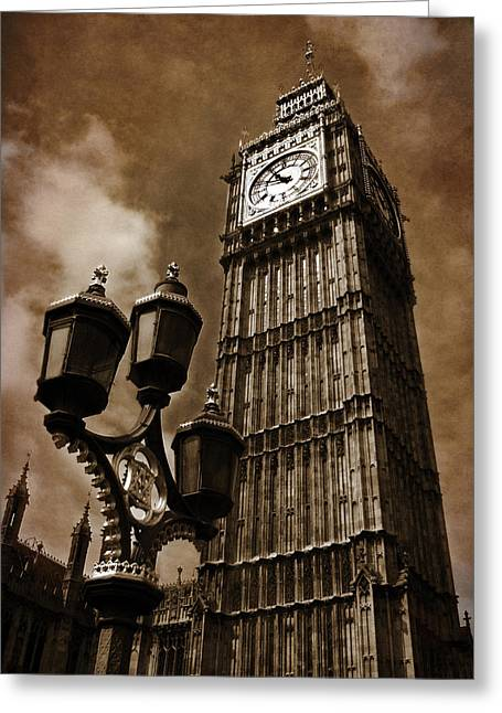 Clock Greeting Cards - Big Ben Greeting Card by Mark Rogan