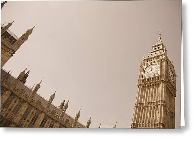 Classical Style Greeting Cards - Big Ben Greeting Card by Mesha Zelkovich
