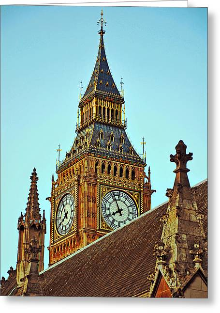 London Pyrography Greeting Cards - Big Ben Greeting Card by Steffen Schumann